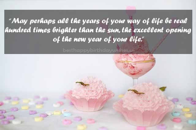 The excellent opening of the new year of your life. Happy Birthday