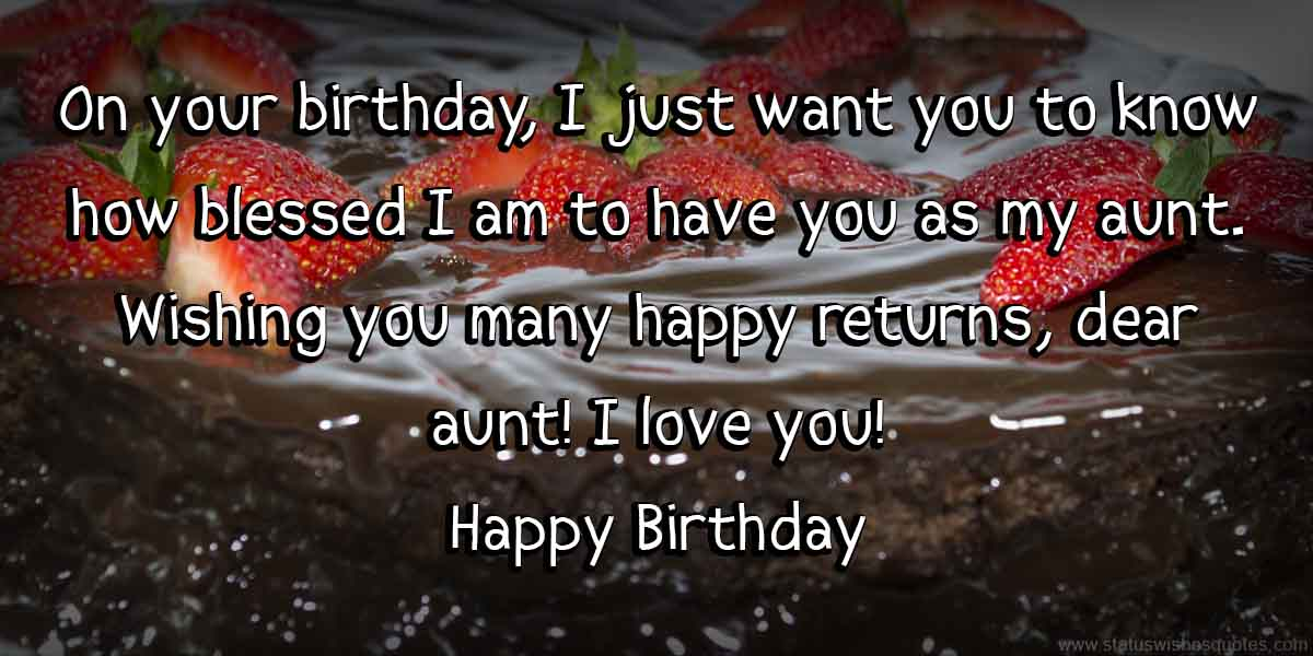 Best Happy Birthday Wishes For Aunt