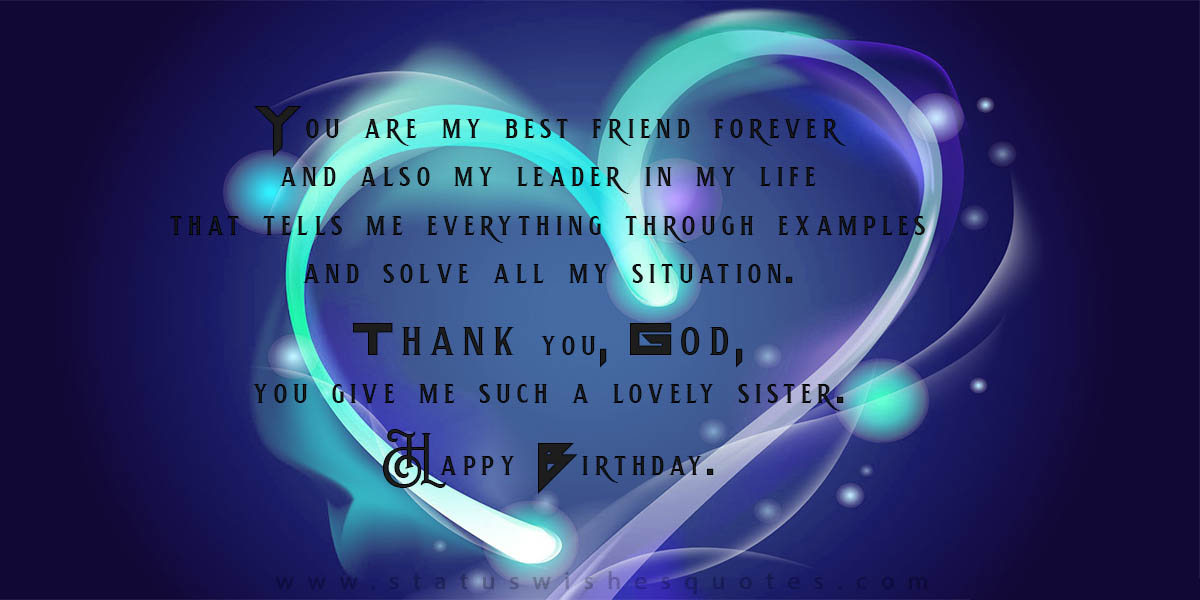 birthdays wishes for sister